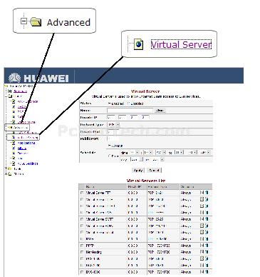 Port Forwarding - Huawei - SmartAX MT880 v2 (Huawei Firmware