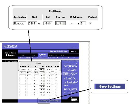 Linksys befsr41v4 screenshot port triggering.