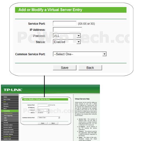 Port Forwarding - TP-LINK - TL-WR841N (TP-LINK Firmware) | PcWinTech
