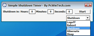Program Is Pretty Self Explanatory Put In The Time And Click Start When Reaches 0 Computer Will Shut Down Power Off If Able To